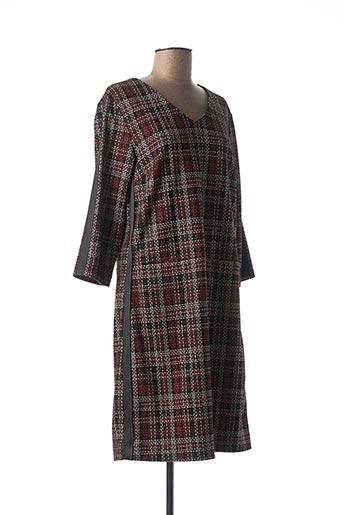 Robe mi-longue rouge DIANE LAURY pour femme
