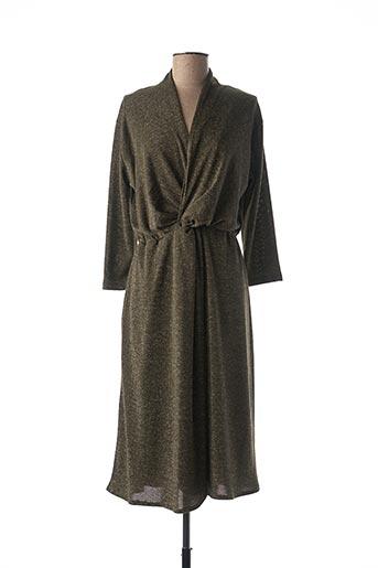 Robe mi-longue vert JULIE GUERLANDE pour femme