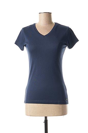 T-shirt manches courtes bleu C'EST BEAU LA VIE pour femme
