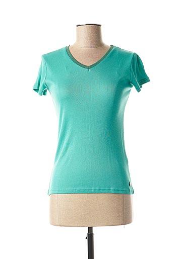 T-shirt manches courtes vert C'EST BEAU LA VIE pour femme