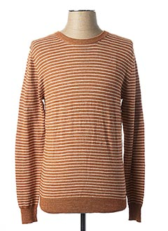 Pull col rond marron MEXX pour homme