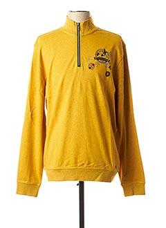 Sweat-shirt jaune MARVELIS pour homme