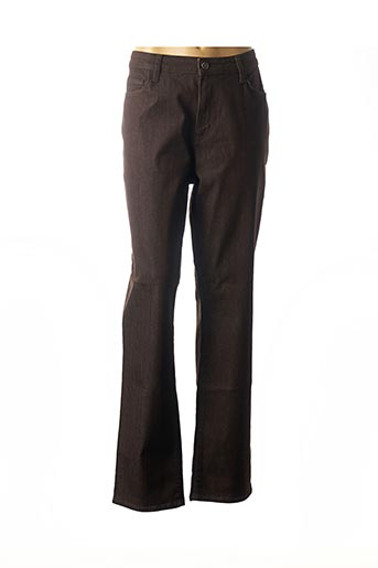 Jeans bootcut marron GEVANA pour femme
