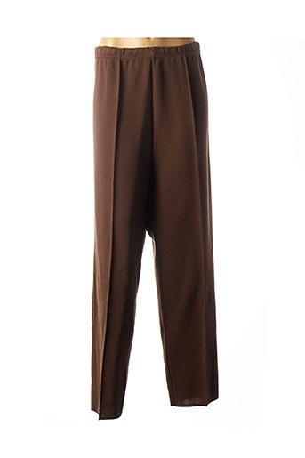 Pantalon casual marron FRANCOISE F pour femme