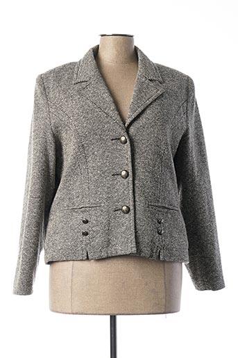 Veste chic / Blazer gris FRANCOISE F pour femme