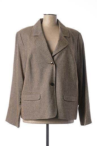 Veste chic / Blazer marron FRANCOISE F pour femme
