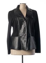 Veste en cuir noir BOD pour femme seconde vue