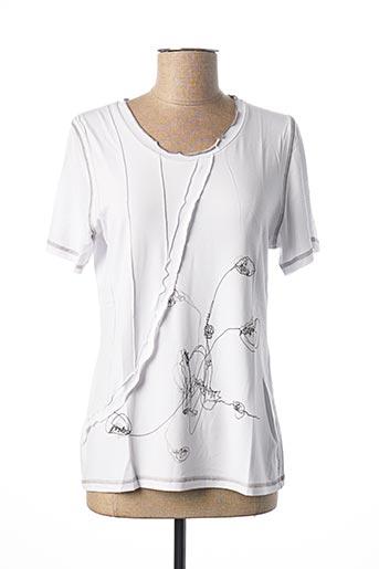 T-shirt manches courtes blanc MERI & ESCA pour femme