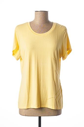 T-shirt manches courtes jaune FRANCE RIVOIRE pour femme