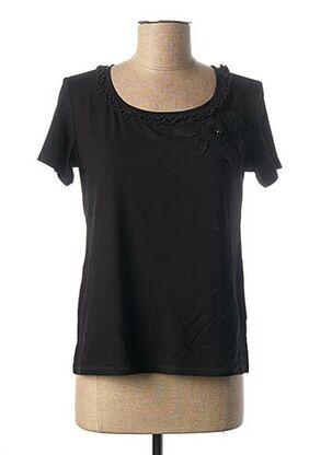T-shirt manches courtes noir MERI & ESCA pour femme