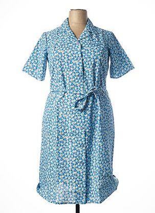 Robe mi-longue bleu GUY DUBOUIS pour femme