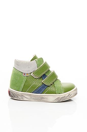 Baskets vert BOPY pour garçon
