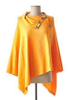 Poncho orange MARBLE pour femme
