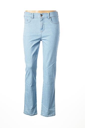 Jeans coupe droite bleu ANNA MONTANA pour femme