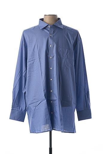 Chemise manches longues bleu ETERNA pour homme