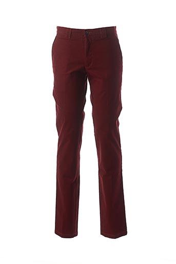 Pantalon chic rouge BRUNO SAINT HILAIRE pour homme