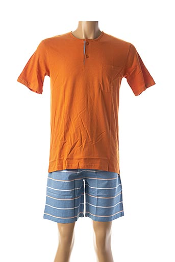 Pyjashort orange CHRISTIAN CANE pour homme