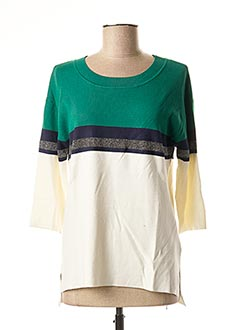 Pull col rond vert 1 2 3 pour femme