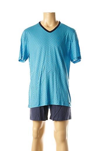 Pyjashort bleu IMPETUS pour homme