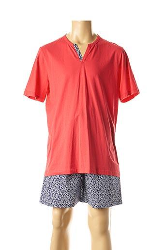 Pyjashort rouge IMPETUS pour homme