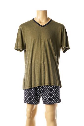 Pyjashort vert IMPETUS pour homme