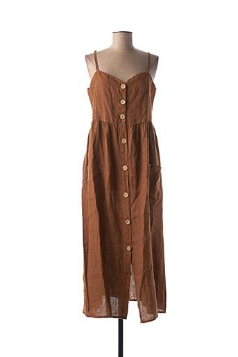 Robe mi-longue marron BSB pour femme