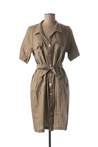 Robe mi-longue vert CHATELET pour femme