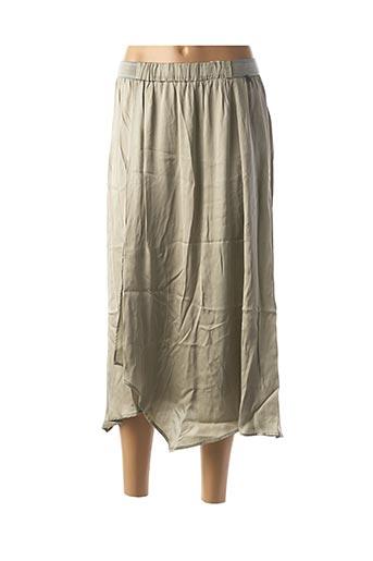 Jupe longue vert BSB pour femme