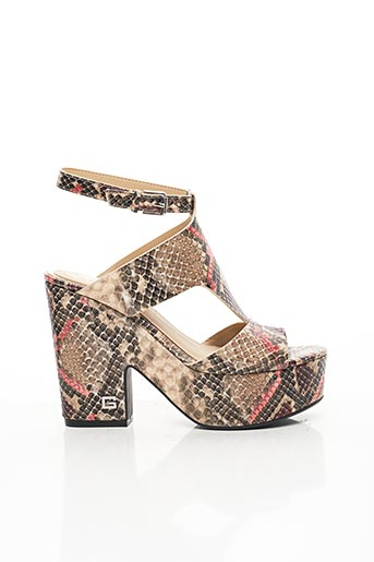 Sandales/Nu pieds beige GUESS pour femme