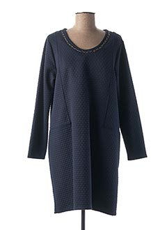 Robe mi-longue bleu FELINO pour femme