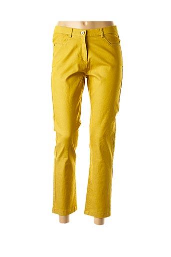 Pantalon 7/8 jaune CHRISTINE LAURE pour femme