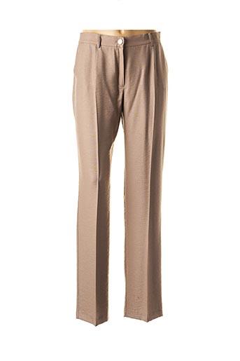 Pantalon chic marron CHRISTINE LAURE pour femme