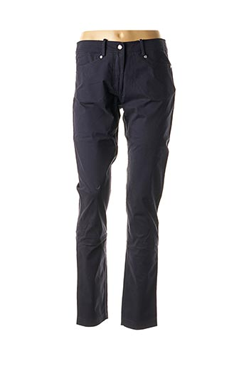 Pantalon casual bleu EL INTERNATIONALE pour femme