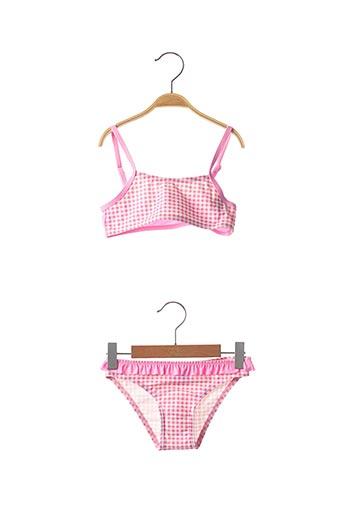 Maillot de bain 2 pièces rose LAGON BLEU pour fille
