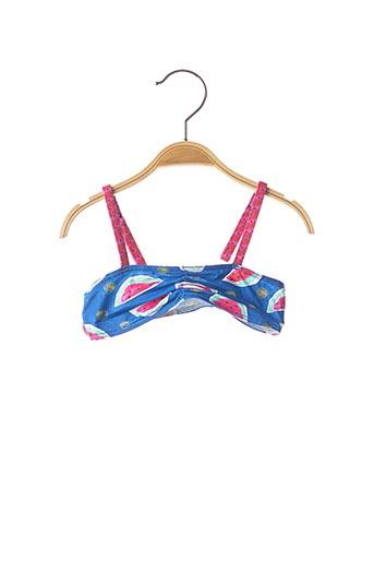 Haut de maillot de bain bleu PLAGE DU SUD pour fille