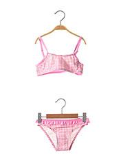 Maillot de bain 2 pièces rose LAGON BLEU pour fille seconde vue
