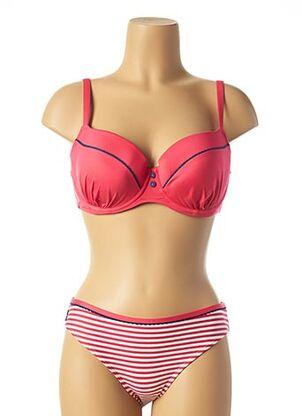Maillot de bain 2 pièces rose CLEO BY PANACHE pour femme