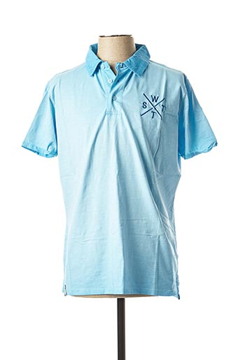 Polo manches courtes bleu WATTS pour homme