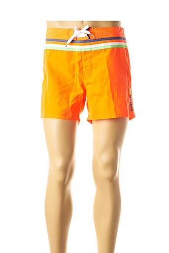 Short de bain orange WATTS pour homme