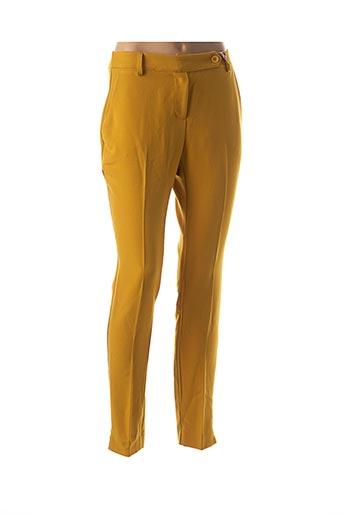 Pantalon casual jaune LA FEE MARABOUTEE pour femme