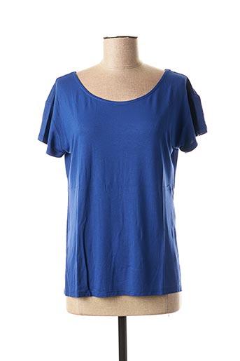 T-shirt manches courtes bleu DANEVA pour femme