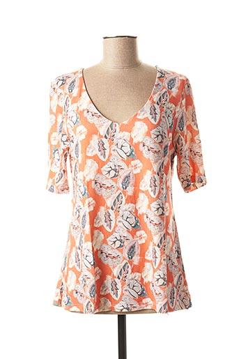 T-shirt manches longues orange DANEVA pour femme