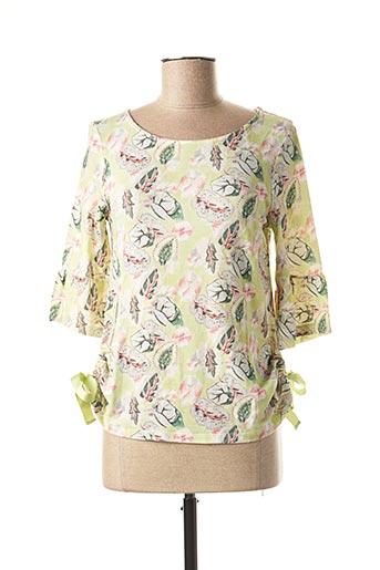 T-shirt manches longues vert DANEVA pour femme