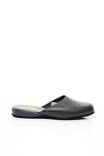 Chaussons/Pantoufles noir HELLER pour femme