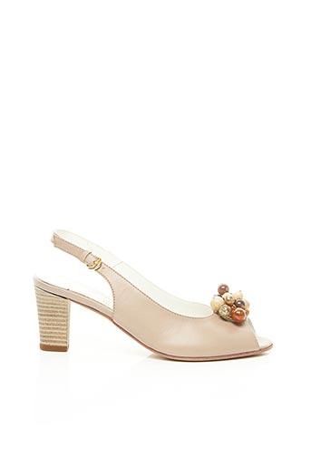 Sandales/Nu pieds beige ALEXANDRIA pour femme