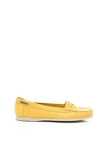 Chaussures bâteau jaune BUGGY pour femme