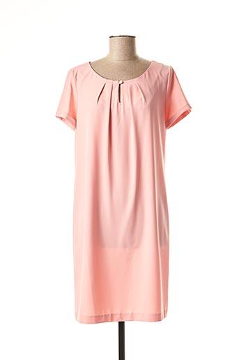 Robe mi-longue rose ANTONELLE pour femme