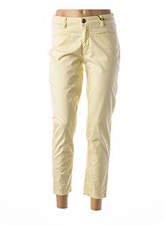Pantalon 7/8 jaune MENSI COLLEZIONE pour femme