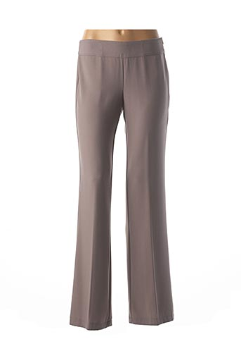 Pantalon chic marron CRISTINA GAVIOLI pour femme