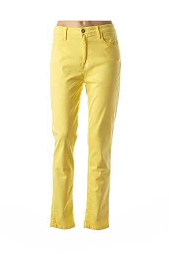 Pantalon casual jaune DESGASTE pour femme